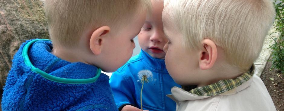 Børn leger - børnehave rumlepotten